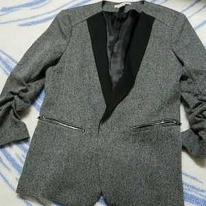 H&M blazer gray and black with pockets, size 12